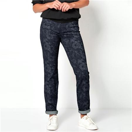 Toni 'Belmonte' Floral Print Jeans - Marine