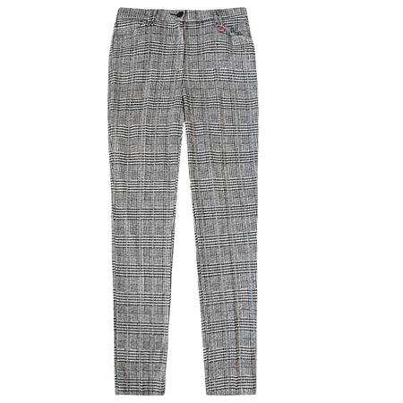 Toni 'Claudia' Check Trousers - Black White