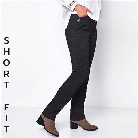 Toni 'Claudia' Short Fit Classic Trousers - Black