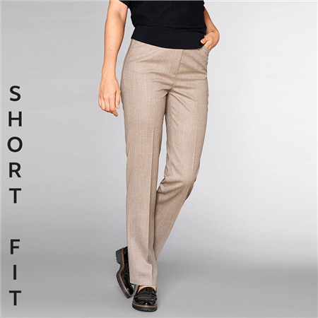 Toni 'Steffi' Short Fit Classic Wool Blend Trousers - Camel  - Click to view a larger image