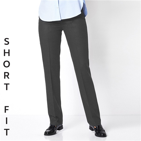 Toni 'Steffi' Short Fit Classic Wool Blend Trousers - Graphite  - Click to view a larger image