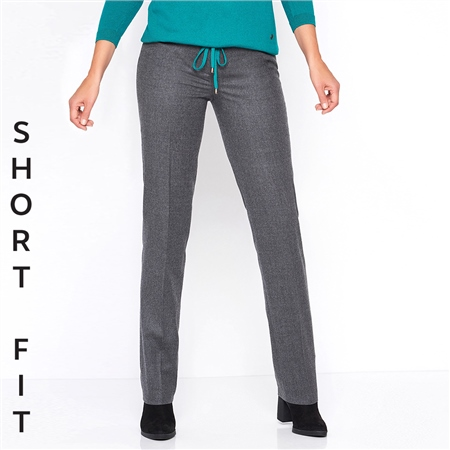 Toni 'Steffi' Short Fit Classic Wool Blend Trousers - Carbon  - Click to view a larger image