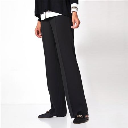Toni 'Marlene' Wide Leg Classic Trousers - Black