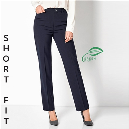 Toni 'Green by Toni' Short Fit Classic Trousers - Dark Blue  - Click to view a larger image