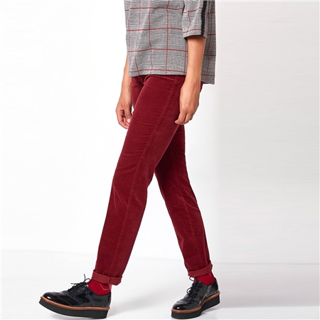 Toni 'Be Loved' Slim Fit Cord Trousers - Rusty Red  - Click to view a larger image