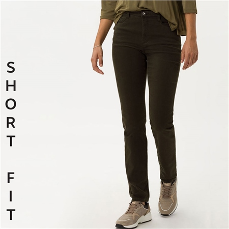 Brax 'Carola' Short Fit Jeans - Dark Olive  - Click to view a larger image