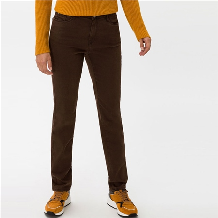Brax 'Carola' Straight Fit Jeans - Brown  - Click to view a larger image
