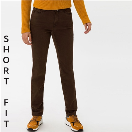 Brax 'Carola' Short Fit Jeans - Brown  - Click to view a larger image