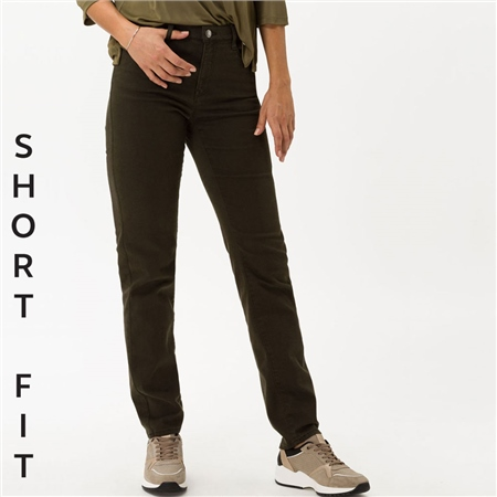 Brax Short Fit 'Mary' Jeans - Olive  - Click to view a larger image