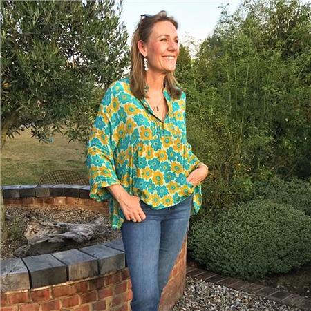 Sissel Edelbo 'Ria' Vintage Sari Print Peplum Top - Choose your one off print