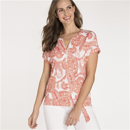Olsen Floral Baroque Print T-shirt  - Click to view a larger image