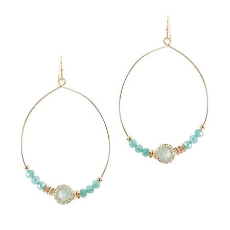 Hill & How Gemstone Hoop Earrings - Mint