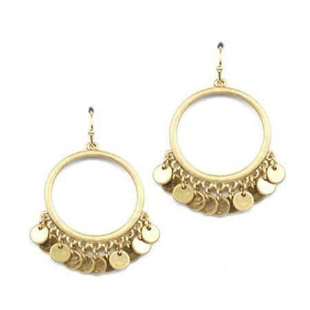 Hill & How Jangly Hoop Earrings - Gold