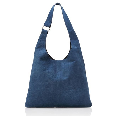 Hill & How Textured Suede Sling Bag - Blue  - Click to view a larger image