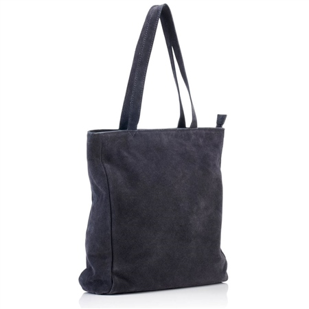 Hill & How Suede Tote Bag - Grey  - Click to view a larger image