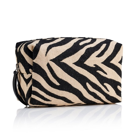 Hill & How Fabric Make-Up Bag - Zebra  - Click to view a larger image