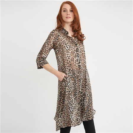 Joseph Ribkoff Animal Print Opaque Cover Up  - Click to view a larger image