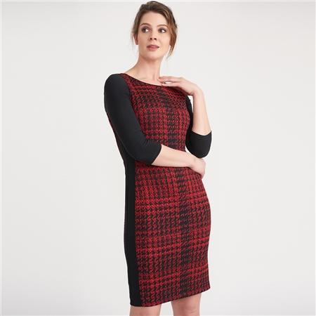 Joseph Ribkoff Check Print Dress  - Click to view a larger image