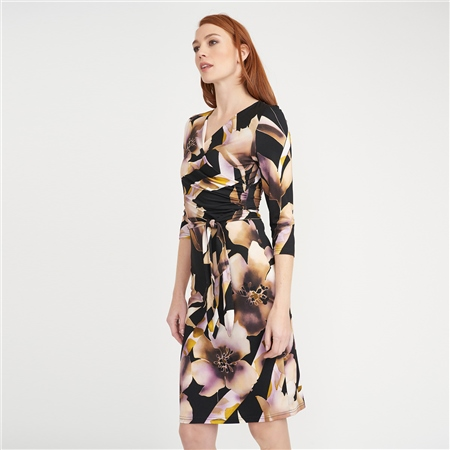 Joseph Ribkoff Floral Print Wrap Dress  - Click to view a larger image