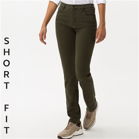 Brax 'Carola' Short Fit Jeans - Olive  - Click to view a larger image