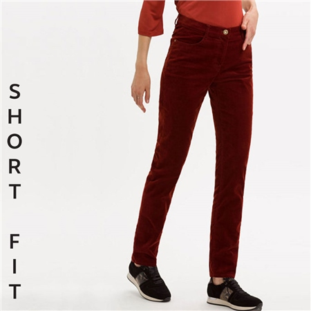 Brax 'Mary' Short Fit Cord Trousers - Cinnamon  - Click to view a larger image