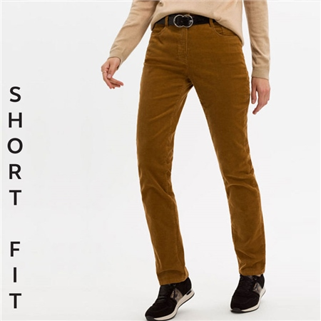 Brax 'Mary' Short Fit Cord Trousers - Walnut  - Click to view a larger image