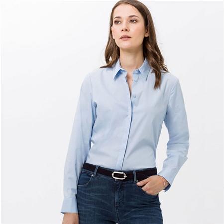 Brax 'Victoria' Classic Shirt - Aquamarine  - Click to view a larger image