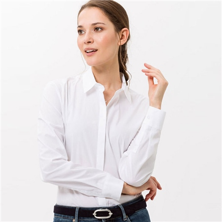 Brax 'Victoria' Classic Shirt - White  - Click to view a larger image