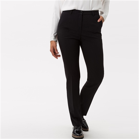 Brax 'Silvia' Classic Wool Mix Trousers - Black  - Click to view a larger image