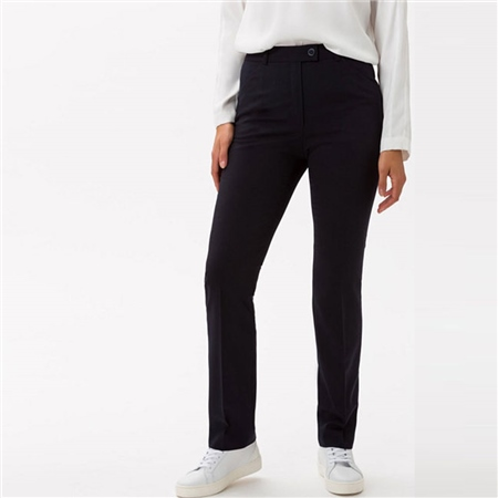 Brax 'Silvia' Classic Wool Mix Trousers - Navy  - Click to view a larger image
