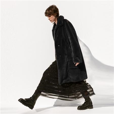 B&L 'Elfie' Faux Fur Coat - Black