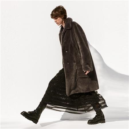 B&L 'Elfie' Faux Fur Coat - Brown
