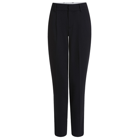 Oui Cropped Tapered Trousers - Black  - Click to view a larger image