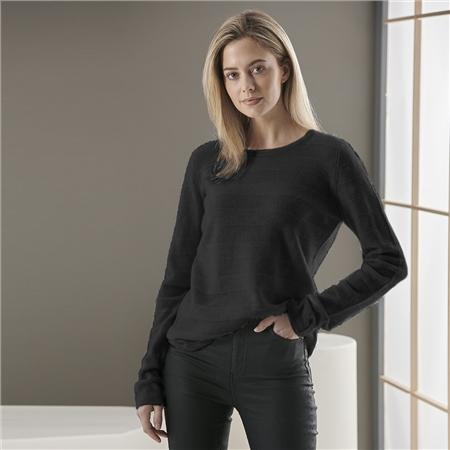 Brodie 'Adina' 100% Cashmere Round Neck Jumper - Black