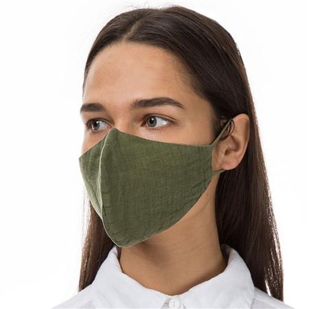Grizas Reusable Linen Face Mask - Khaki  - Click to view a larger image