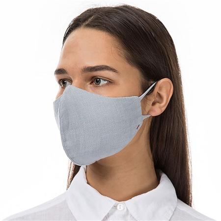 Grizas Reusable Linen Face Mask - Light Grey  - Click to view a larger image