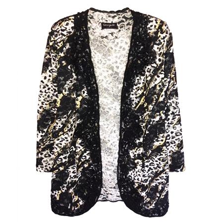 Georgede Embellished Animal Lace Cover-Up Jacket