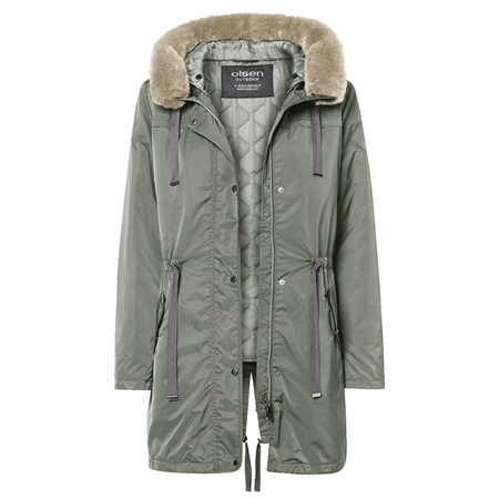Olsen 4-In-1 Convertible Fur Trim Coat  - Click to view a larger image