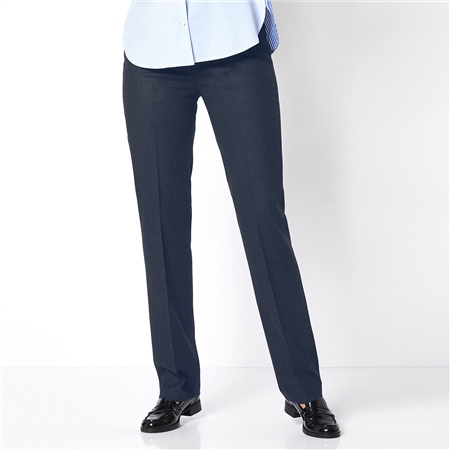 Toni 'Steffi' Classic Wool Blend Trousers - Marine  - Click to view a larger image