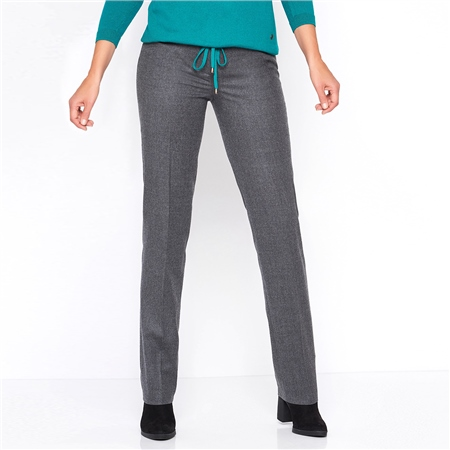 Toni 'Steffi' Classic Wool Blend Trousers - Carbon  - Click to view a larger image