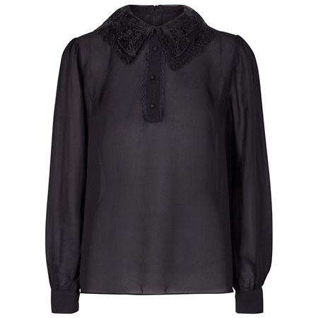 Levete Room 'Lucille' Lace Collar Silk Chiffon Blouse
