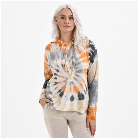 Brodie 'Sahara' Tie-Dye Hoodie - White Multi