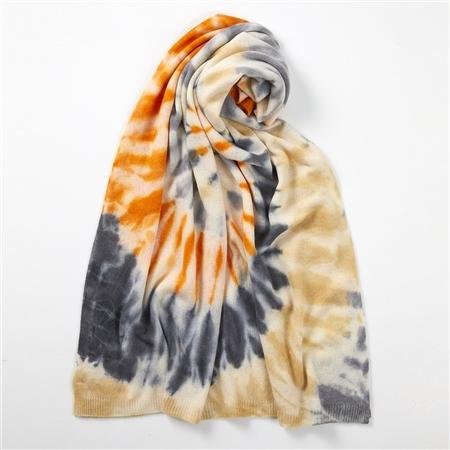 Brodie 'Sahara' Tie-Dye Travel Wrap - White Multi