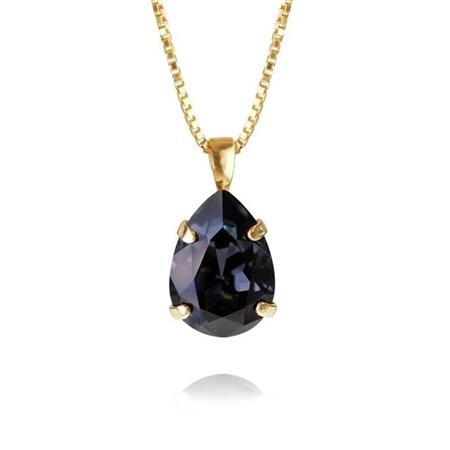 Caroline Svedbom 'Mini Drop' Swarovski Crystal Necklace - Graphite