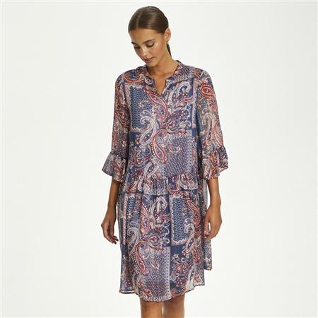 Cream 'Sheena' Paisley Print Dress