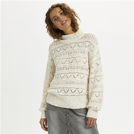 Cream 'Isala' Turtleneck Knitted Jumper  - Click to view a larger image