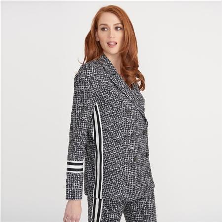 Joseph Ribkoff Cotton Mix Tweed Blazer  - Click to view a larger image