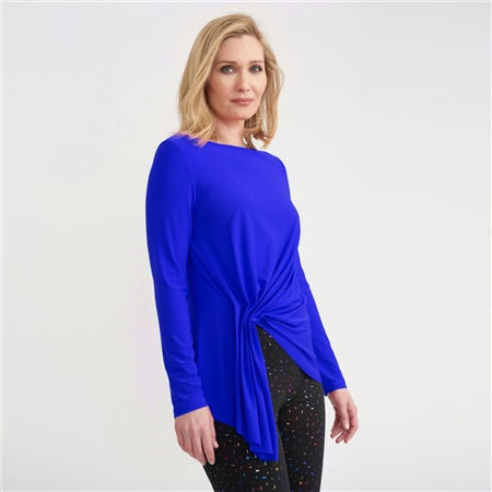 Joseph Ribkoff Ruched Front Long Sleeve Top  - Click to view a larger image