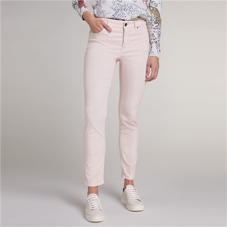 Oui 'Baxtor' Slim Fit Jeggings - Peach Whip  - Click to view a larger image