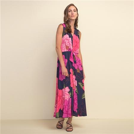 Joseph Ribkoff Floral Print Mid-Length Dress